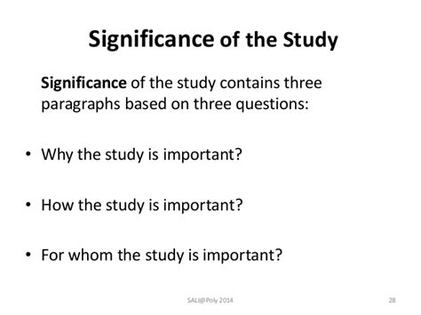 How To Make Significance Of The Study In Research Paper - writing fms research seminar series