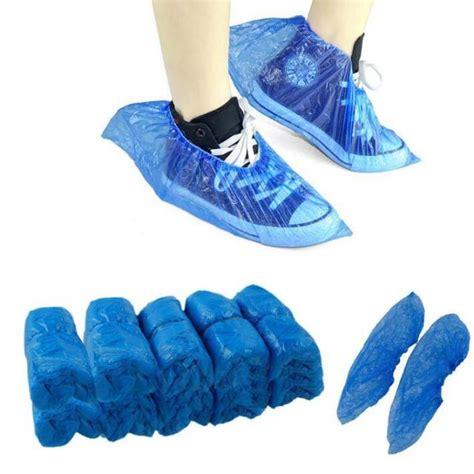 Shoe Plastic Cover 100pcs waterproof boot covers plastic disposable shoe
