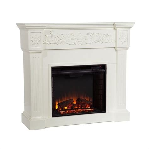 electric fireplace ivory southern enterprises calvert ivory electric fireplace fe9279