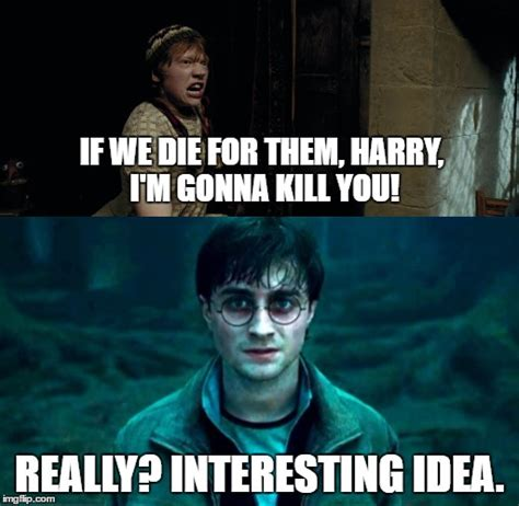 Harry Meme - ron contradicts himself imgflip