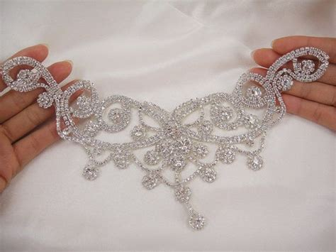 diamante applique sweet rhinestone applique bridal