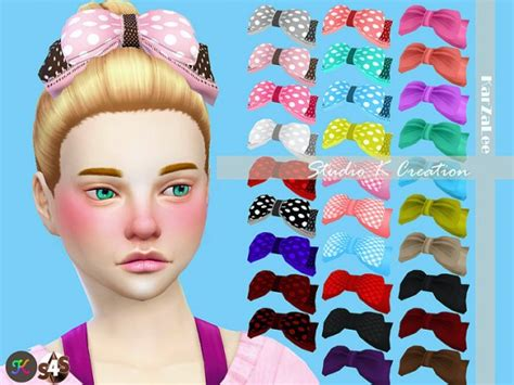 bow baby at jenni sims 187 sims 4 updates sims 4 custom content hair bows studio k creation front