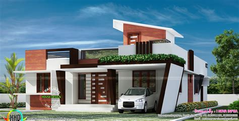 One Floor Homes by 1653 Sq Ft Contemporary One Floor House Kerala Home