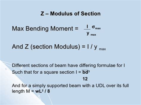 section modulus of i beam selecting columns and beams