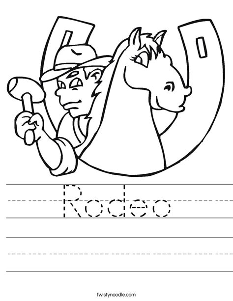 printable rodeo numbers rodeo worksheet twisty noodle