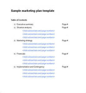 marketing plan template word sle marketing plan template 13 free documents in