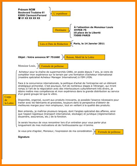 exemple de lettre de d c3 a9mission simple