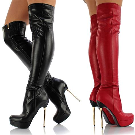 womens the knee thigh high platform