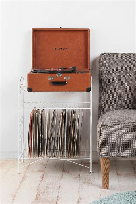 record player table and storage vinyl record storage shelf urban outfitters portable