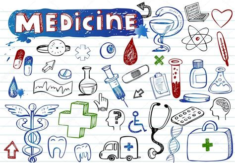 doodle doctor free doodle medicine icons stock vector 169 azzzya 32826175