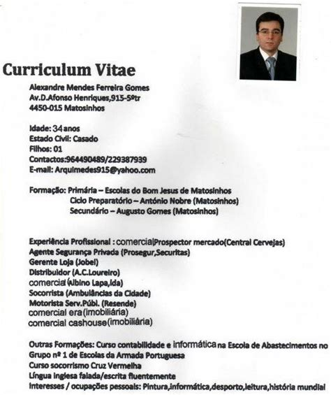 Modelo Curriculum Ford Academic Curriculum Vitae Sle Cv Exles Academic Exles Car Pictures