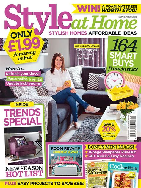 at home magazine style at home magazine september 2015 cover interiors by color