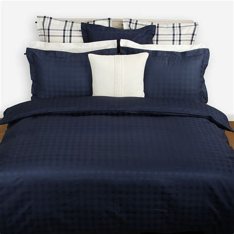 Navy Duvet Cover gant solid jacquard duvet cover navy at amara