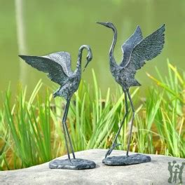 spi home cast iron exalted crane pair item  gifts