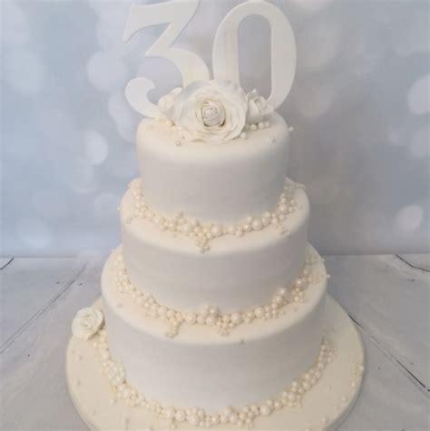 3 tier Pearl Wedding Anniversary
