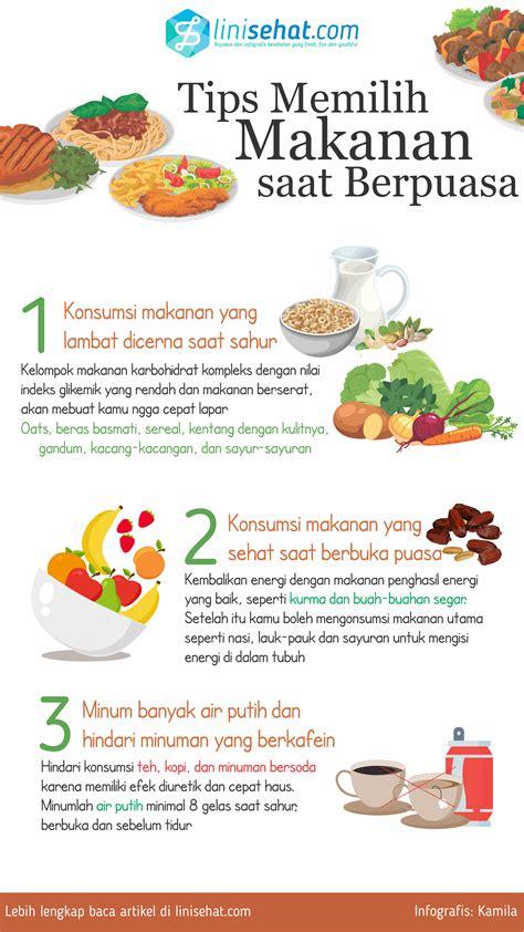 tips memilih makanan  berpuasa linisehatcom