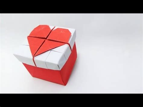 3d origami heart box tutorial valentine s day ideas origami 3d heart box youtube