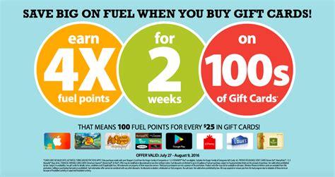 Fuel Gift Cards - fred meyer kroger fuel rewards 4x points