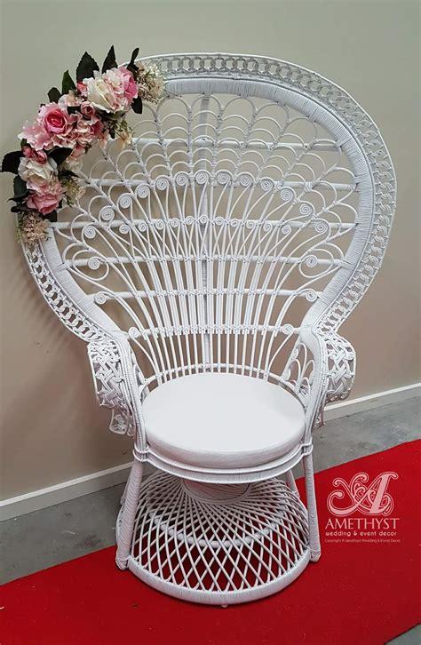 white peacock chair hire white peacock chair 100hire amethyst wedding event