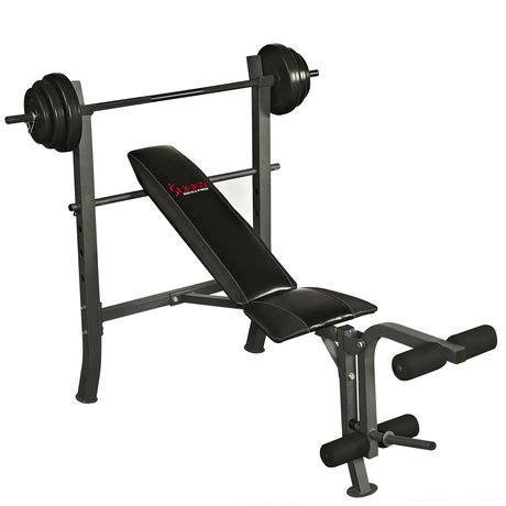walmart ca weight bench sunny health fitness sf bh6510 100lb weight bench set