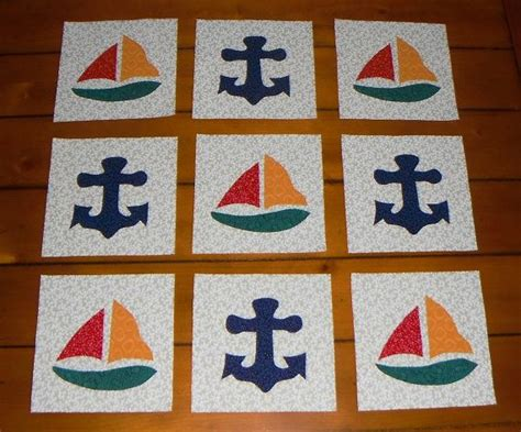 quilt pattern anchor 9 nautical sailboat and anchor quilt blocks by