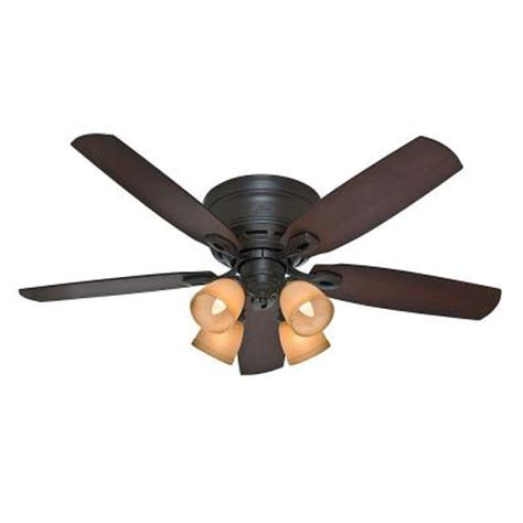 Home Depot Low Profile Ceiling Fan atherton 52 in indoor bronze low profile ceiling fan 52010 the home depot