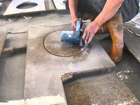 how to cut granite for cut out of granite vanity top youtube