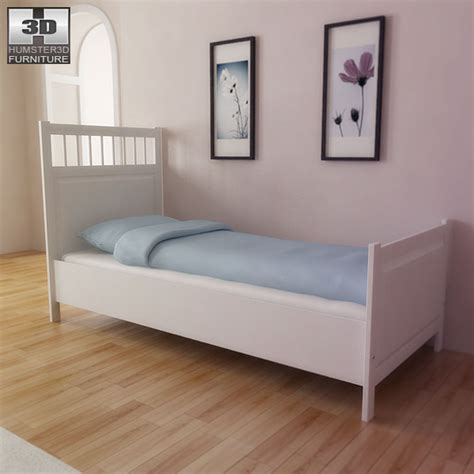 hemnes bed ikea hemnes bed 3d model humster3d