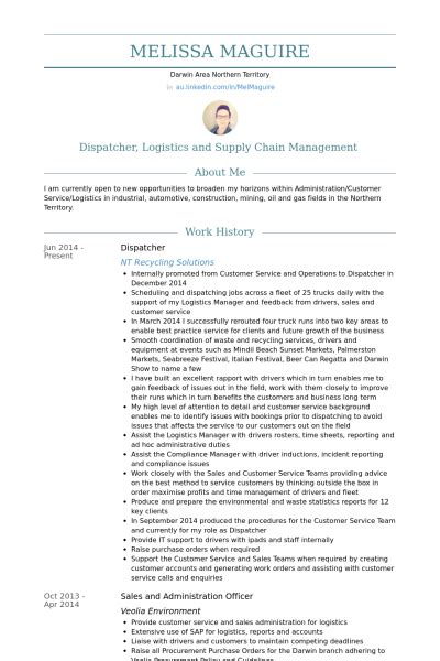 Dispatcher Resume by Dispatcher Resume Sles Visualcv Resume Sles Database