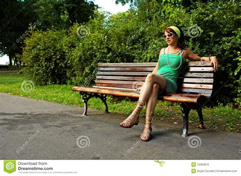 girls bench girl on park bench stock photography image 10363872