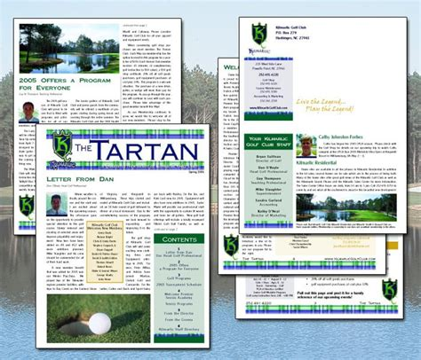 kilmarlic golf newsletter newsletter template for