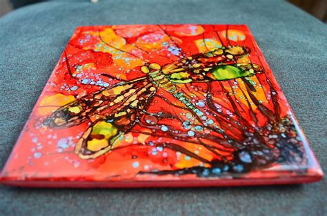 painting on ceramic tile craft kellie chasse fine art alcohol ink paintings on ceramic tiles