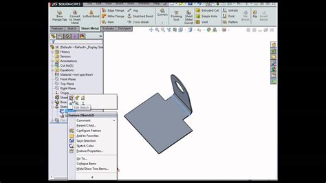 solidworks tutorial bending how to create sketched bends solidworks tutorials sheet