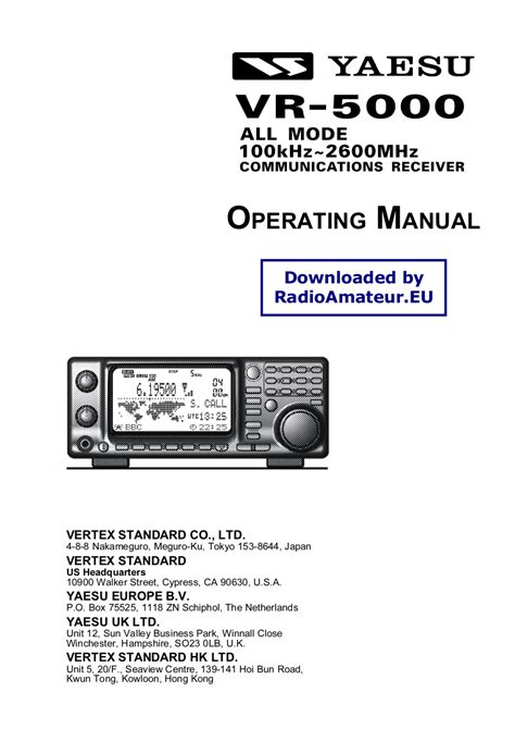 Aea Mba Reader Manual by Yaesu Vr 500 Manual Pdf