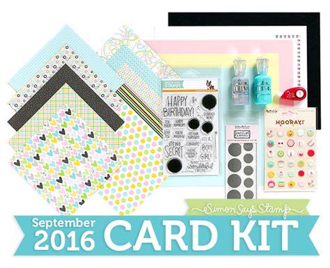 card kit monthly card kit simon says st