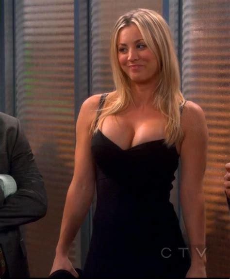 the big bang theory penny gives a reluctant sheldon a image penny black dress kaley cuoco jpg the big bang