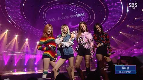 blackpink live boombayah blackpink 휘파람 whistle 0904 sbs inkigayo youtube