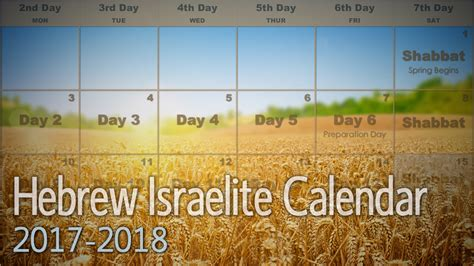 Hebrew Calendar 2018 The Hebrew Calendar Kingdom Preppers
