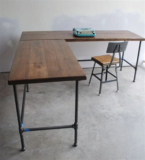 reclaimed wood standing desk 995 on etsy can be made into standing desk l shape desk