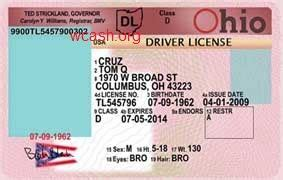 Ohio Id Card Photoshop Template template ohio drivers license editable photoshop file psd