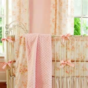 Shabby chenille crib bedding pink floral baby girl crib bedding