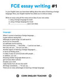 When Writing An Essay by Fce Writing Sles And Essay Exles Myenglishteacher Eu