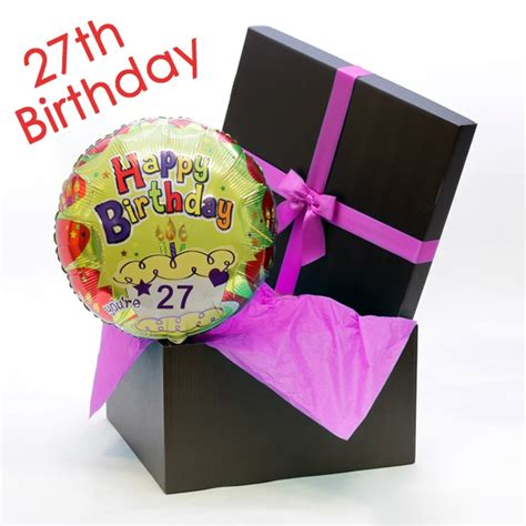 Happy 27th Birthday Wishes Happy 27th Birthday Helium Balloon Balloons By Post Floric