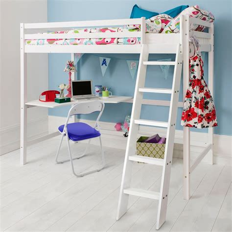 white cabin bed with desk white high sleeper cabin bed with desk noa nani