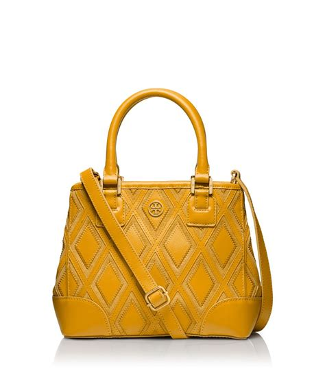 Burch Robinson Patchwork - burch robinson patchwork mini square tote in yellow