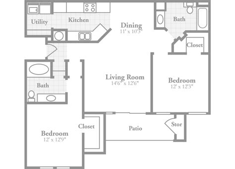 two bedroom floor plans one bath two bedroom floor plans one bath choice image home