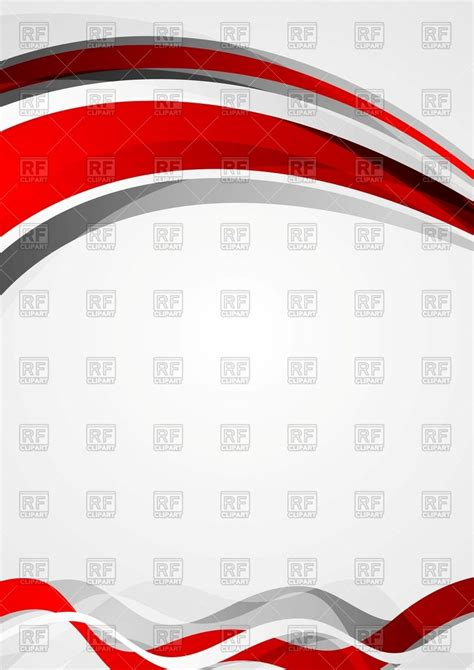 template flyer vector abstract red and grey wavy corporate flyer template