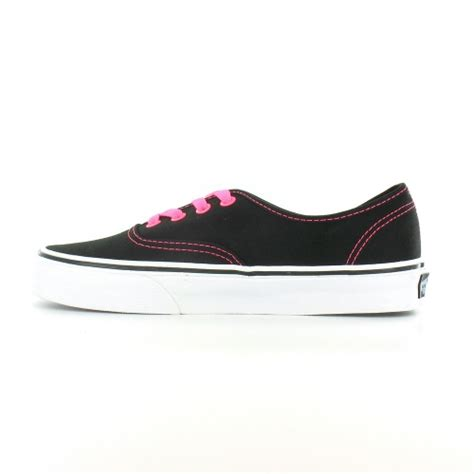 vans deck shoes vans authentic womens 4 eyelet deck shoes neon pink black