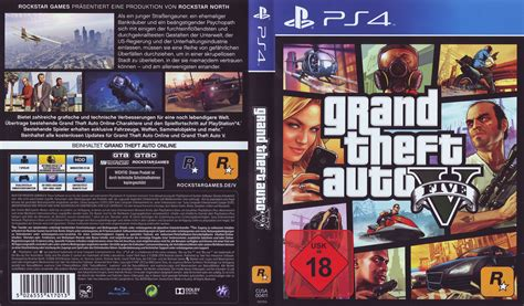 grand theft auto v dvd cover 2014 ps4 german