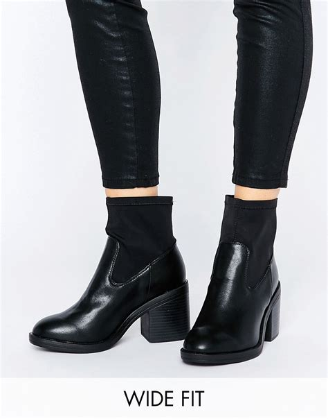 sock boots new look new look wide fit sock ankle boots black 163 19 50